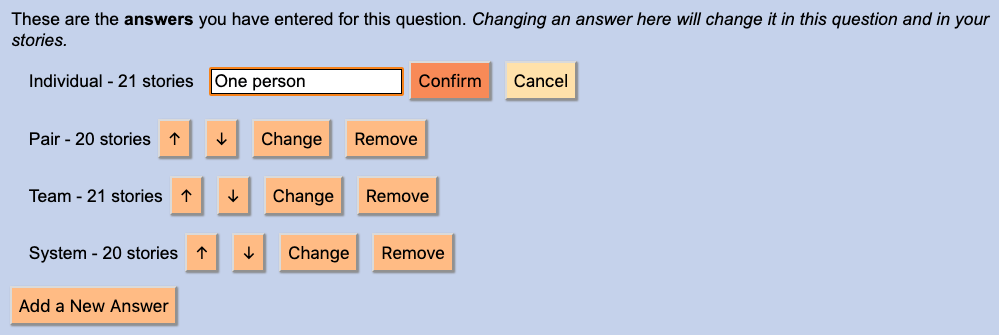 Changing an annotation answer
