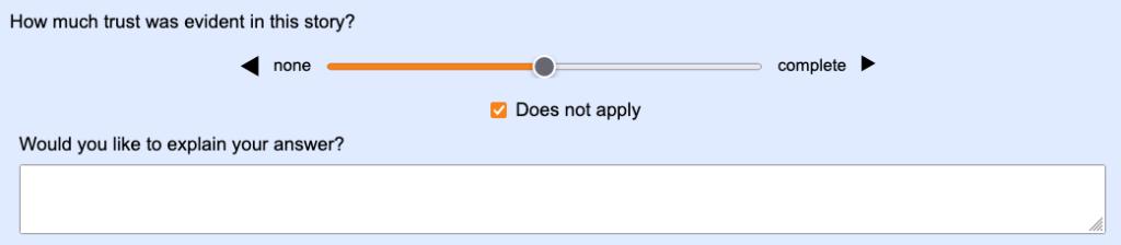 "Screenshot of ""follow-up"" write-in field"