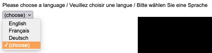 Multi-lingual survey language chooser