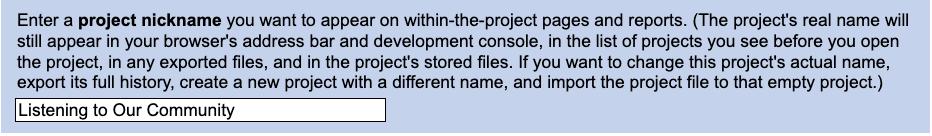 NarraFirma project nickname